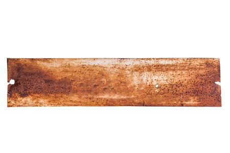 oxidated: Marco de metal viejo en el fondo blanco