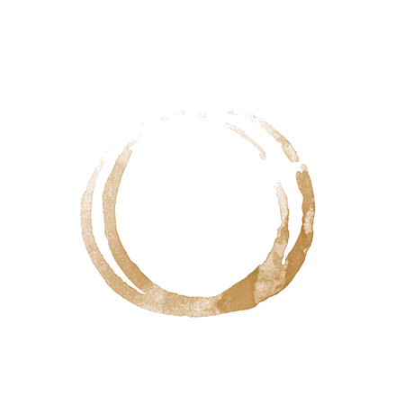 coffee cup stain on a white background photo