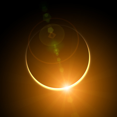 日食 写真素材