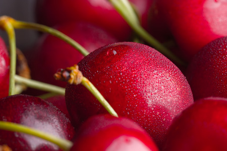 close up image: Sweet cherries as a background close up image
