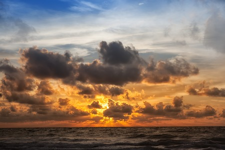 adamant: beautiful sunrise with sky in the adamant sea