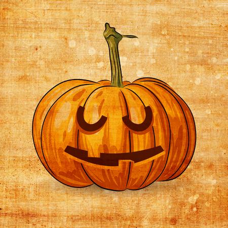jack o' lantern: Scary Jack O Lantern halloween pumpkin on grunge background