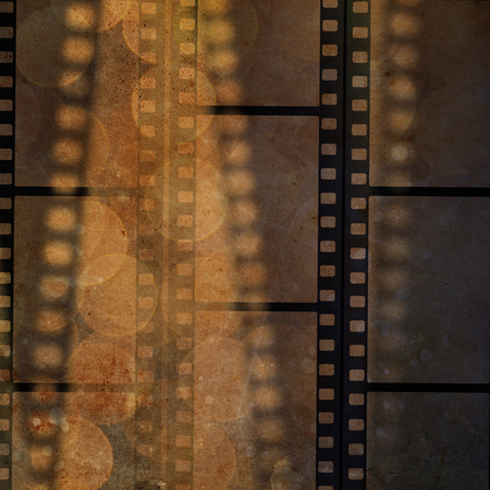 gray strip backdrop: film frame on a grunge vintage background