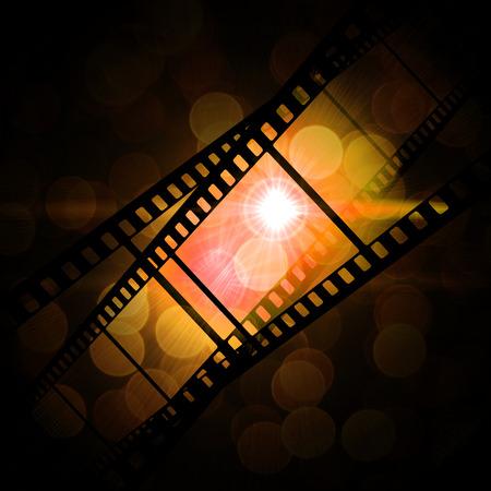 emulsion: film frame on a grunge vintage background
