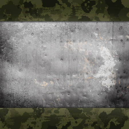 green abstract background: Camouflage military background with scratches and stains Stock Photo