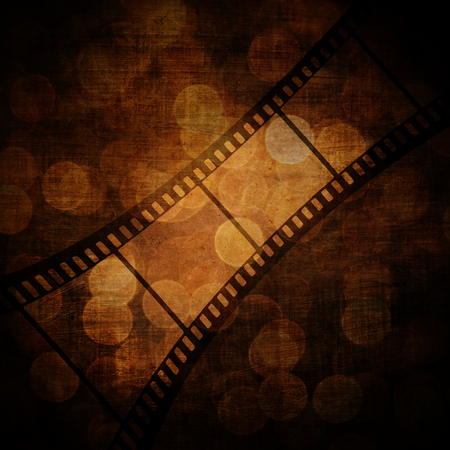 exposed: film frame on a grunge vintage background