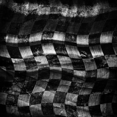 chessboard: Grungy chessboard background with scratches on old canvas Stock Photo