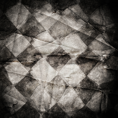 black grunge background: Grungy chessboard background with scratches on old canvas Stock Photo