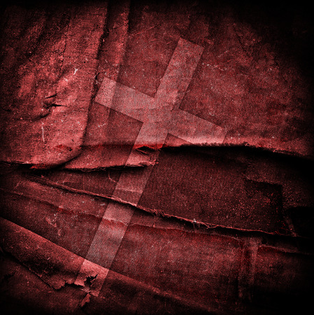 spiritual background: cross on abstract grunge background with scratches and stains Stock Photo
