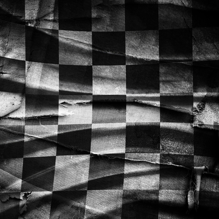 checker: Grungy chessboard background with scratches on old canvas Stock Photo