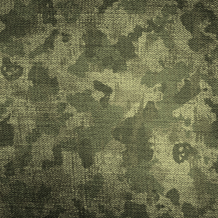 Camouflage military background with scratches and stains Imagens