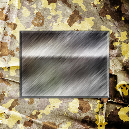 metall texture: Camouflage military background with place for text Stock Photo