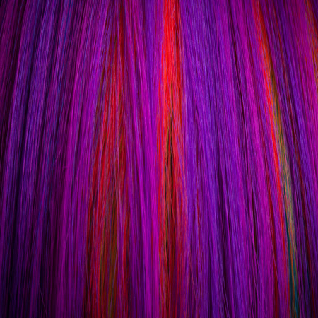 wig: colorful abstract background, made from color wig