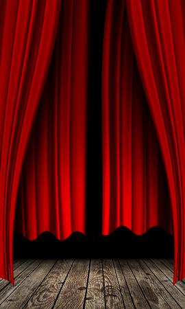 Schöne rote Vorhang Hintergrund mit abstrakten Falten