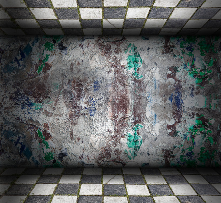 abandoned building: Abstract grunge Interior with scratches and stains Stock Photo