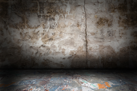 abandoned house: Abstract grunge Interior with scratches and stains Stock Photo