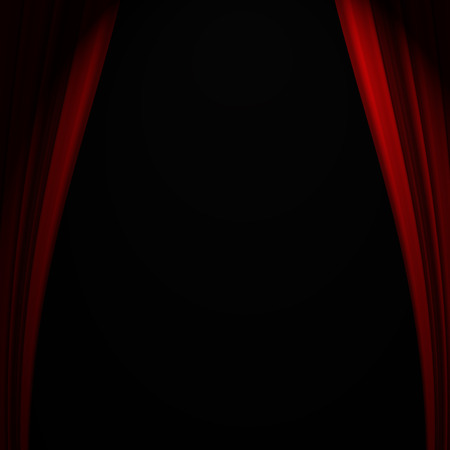 curtain background: Beautiful red curtain background with abstract folds