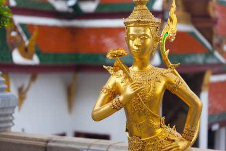 Ki-nara at Grand Palace in Bangkok ,Thailand Stock Photo