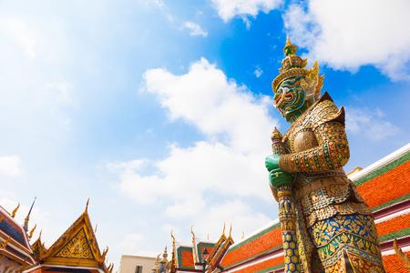 Demon Guardian in Wat Phra Kaew Grand Palace Bangkok Editorial
