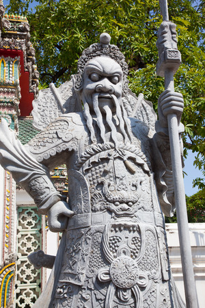 Chinese Warrior Statue In grand palace, Bangkok, Thailand