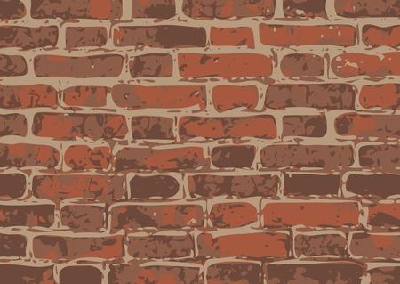 plaster wall: vector brick wall texture illustration, brickwall pattern