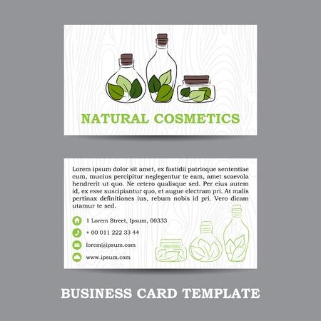 horisontal: vector natural cosmetics shop business card template