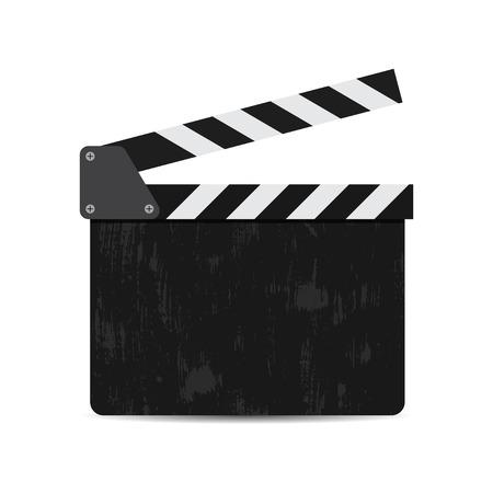 Vektor-Illustration der schwarzen Films Klöppel isoliert auf weiß Vektorgrafik