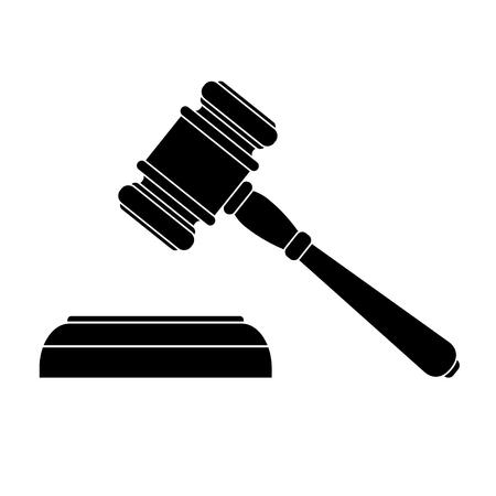 vector illustration of a black court hammer Illustration