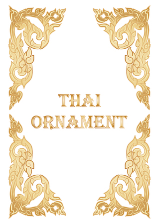 vector illustration of traditional golden Thai ornament
