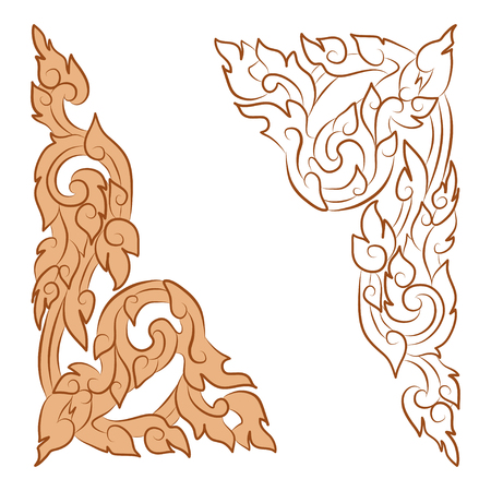 vector illustration of traditional golden Thai ornament Stock Vector - 71267602