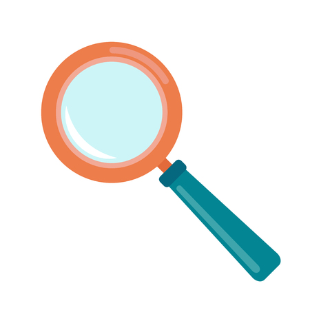 vector illustration of a magnifying glass on white background Illustration