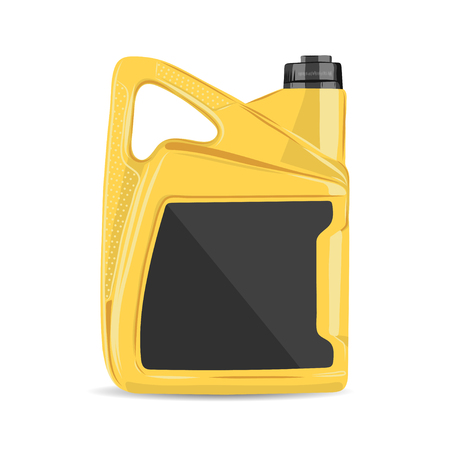 canister: vector illustration of realistic motor oil canister Illustration