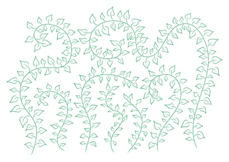 clambering: vector floral background with green clambering plants