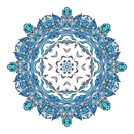 weave: vector illustration of mandala, vintage decorative element. EPS
