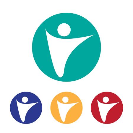 vector logo illustrating freedom, corporate logotype style. EPS Illustration