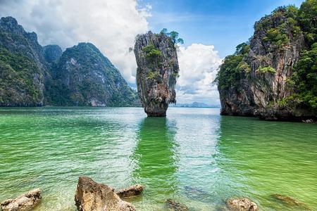 phang nga: Thailand James Bond stone Island, Phang Nga Stock Photo