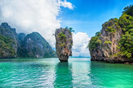 Thailand James Bond stone Island, Phang Nga Stock Photo