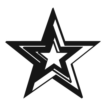 Illustration of big black grunge star. Illusztráció