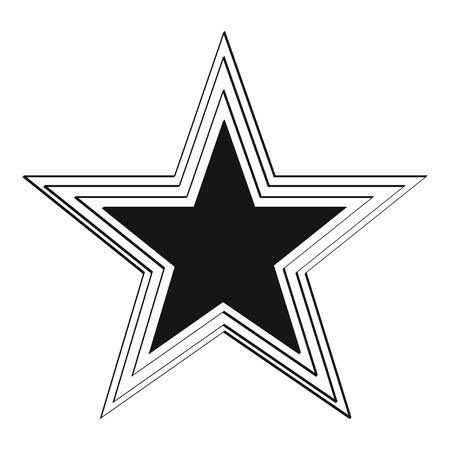 Illustration of big black grunge star. Illustration