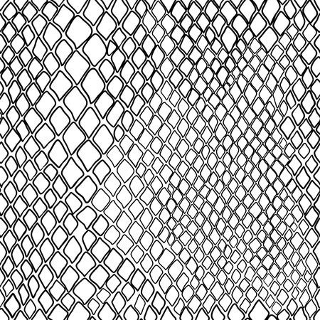 Zwart en wit patroon van slang. Stock Illustratie
