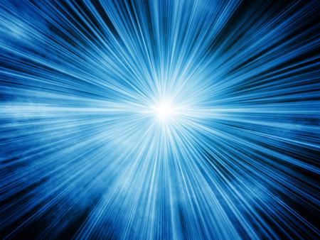 青い光バースト背景