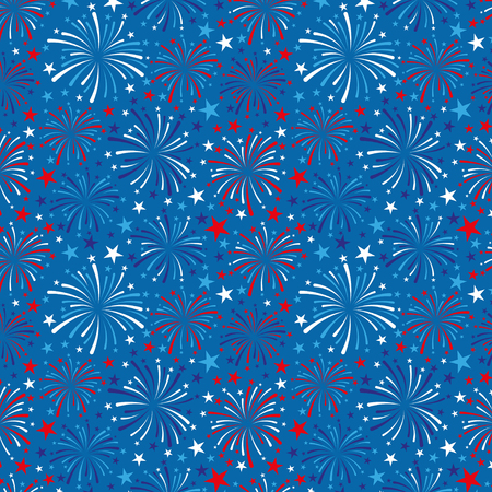 4th of July background with fireworks