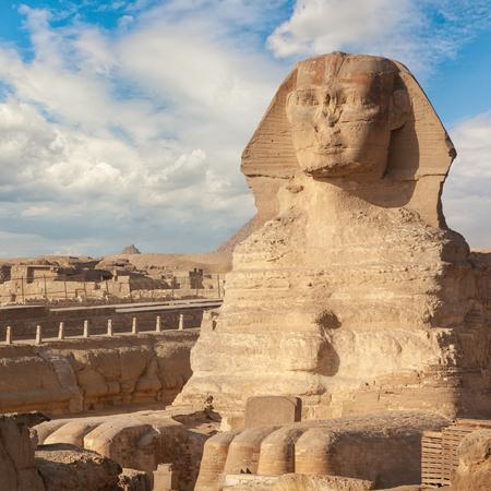 La Gran Esfinge de Giza, Egipto Foto de archivo
