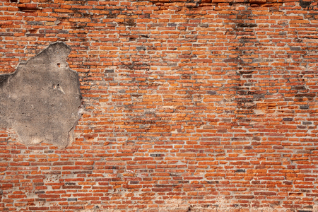 Detailed red brick wall background