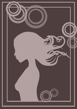 pretty girl on the poster  Vector