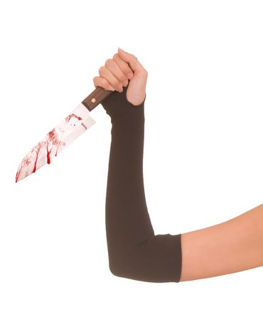 woman killing victim with the knife Stock Photo - 5645356