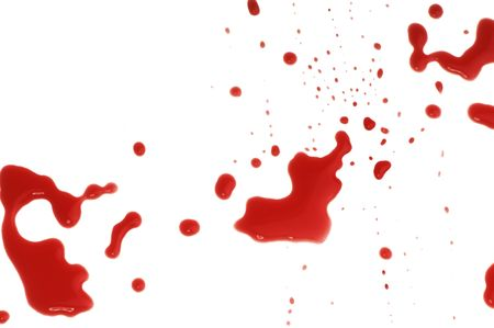spots of blood on the floor