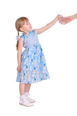 niña tomando un vaso de agua Foto de archivo - 5830287