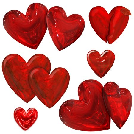a lot of red hearts for valentines day photo