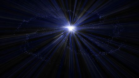 astrophoto: Blue space of glowing stars of  the Galaxy